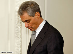 Rahm Emanuel met with journalists Friday to discuss health care.