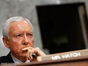Sen. Orrin Hatch said Sunday that if Democrats use reconciliation to pass health care reform, 'they're going to have to live with it the rest of their lives.'