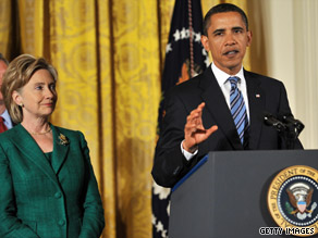 I think his performance in office has been incredible, Secretary of State Clinton said of President Obama.