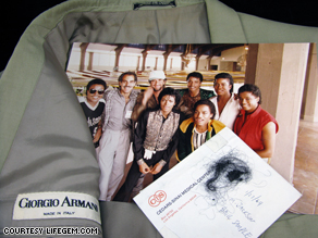 Michael Jackson's hair, and the jacket used to extinguish the fire on his head during the 1984 Pepsi commercial fire.