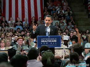 Then-Sen. Obama campaigned in Bristol, VA soon after securing the Democratic nomination in June of last year.
