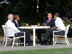 Sgt. James Crowley and professor Henry Louis Gates Jr. sat down with the president and vice president Thursday.