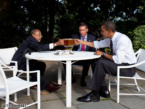 RNC Co-Chairman Jan Larimer sharply criticized President Obama on Friday for his 'beer summit' meeting Thursday evening.
