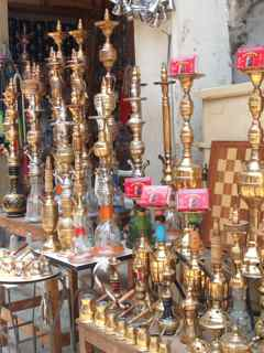 Rym Momtaz/CNN. Shisha on sale. A favorite social pastime in Egypt.