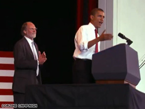 The new Corzine spot features Obama.