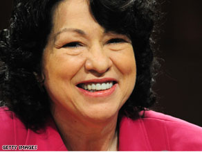 A confirmation vote on Sotomayor's nomination is expected by Thursday.