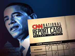 The CNN/Opinion Research Corporation polled Americans on the eve of Obama's second 100 days in the White House.