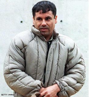 This July 10, 1993 file photo shows Mexican Joaquin Guzman Loera, aka El Chapo, at La Palma prison in Almoloya of Juarez.