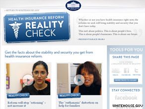 The White House launched a new Web page Monday.