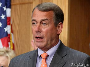 House Republican leader John Boehner claims that the Senate health care bill includes an abortion fee.