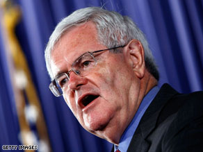 Former House Speaker Newt Gingrich says he&#039;s among a handful of Republican candidates who are thinking about running for president in 2012.