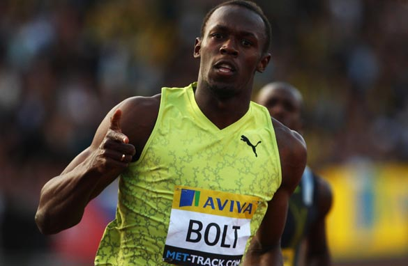 Usain Bolt looks unstoppable ahead of this upcoming world athletics championships in Berlin.