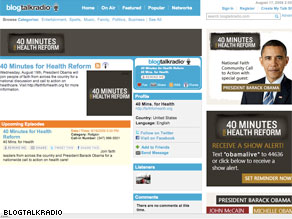 BlogTalkRadio.com, a social networking site, will host President Obama on Wednesday.
