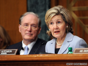 Sen. Kay Bailey Hutchison, R-Texas, delivered the Republican weekly radio and internet address Saturday