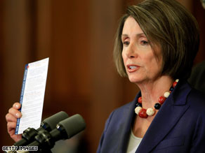 House Speaker Nancy Pelosi says there is still 'strong support' for the public option.