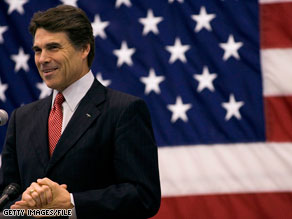 Texas Gov. Rick Perry fired back at Sen. Kay Bailey Hutchison on Tuesday.