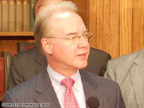Rep. Tom Price came out against a non-profit health care co-op on Tuesday.