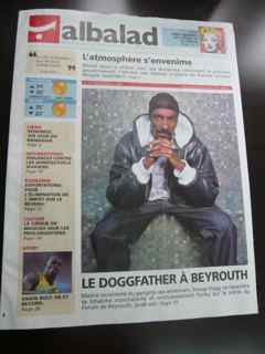 Local newspaper cover announcing Snoop Dogg's concert. Photo by Habib Battah
