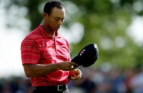 If the cap fits...Well Tiger's certainly didn't at Hazeltine as he suffered a shock final round collapse.