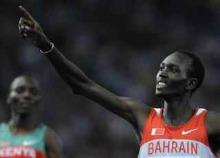 OLIVIER MORIN/AFP/Getty Images. Bahrain's Yusuf Saad Kamel wins the men's 1500m final race of the 2009 IAAF Athletics World Championships on August 19, 2009 in Berlin.