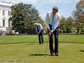 Obama is expected to play golf a 'number of times' while on vacation, said the White House.