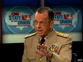 Admiral Mullen expressed concern Sunday about recent violence in Iraq.