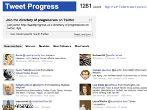 A new site launched to help progressives organize on Twitter.