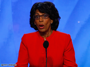 Waters is urging the president to keep the public option plan.