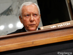 Sen. Orrin Hatch (R-UT) on Capitol Hill July 14, 2009 in Washington, DC.
