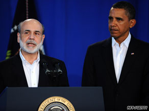 U.S. President Barack Obama has again nominated Ben Bernanke, left, as chairman of the U.S. Federal Reserve.