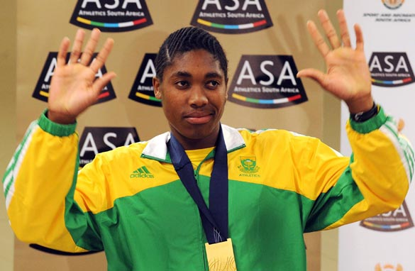 Semenya received a rapturous reception on her return to South Africa following the controversy surrounding her gender.