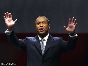 Gov. Deval Patrick is in favor of a state law that would allow him to appoint an interim replacement.