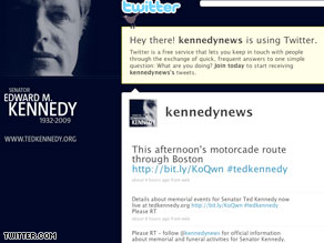 The official account of the Kennedy family will inform followers about memorial and funeral plans.