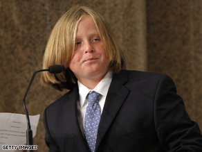 Sen. Ted Kennedy's 11-year-old grandson announced his candidacy for Senate in 2044.