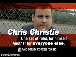 Corzine is on the attack with a new negative ad against Christie.