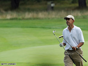 President Obama has spent much of his vacation on the golf course.