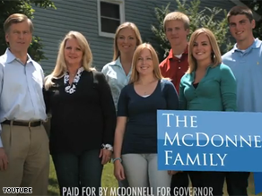 McDonnell touts his family in his latest ad.