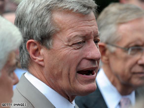 Baucus proposes dropping public option from health care bill.