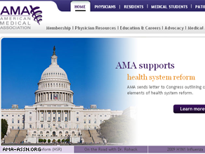The AMA announced on its Web site it is backing health care reform.