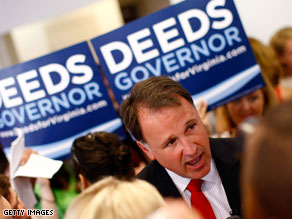 Democrat Creigh Deeds isn't the smoothest talker on the campaign trail.'