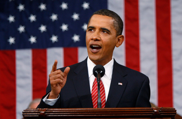President Obama addresses a joint session of Congress September 9, 2009. (Getty Images)