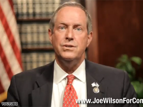 Wilson used a Web video last week to raise money after being criticized by Democrats.
