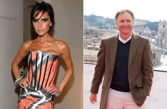 What links Victoria Beckham to Dan Brown? (PHOTO: AFP/GETTY IMAGES)