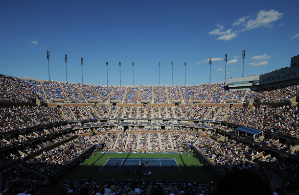 Roger Federer and Juan Martin Del Potro do battle for the U.S. Open title in the cauldron of the Arthur Ashe stadium.