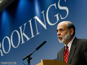 A new poll shows Americans aren't as optimistic as Fed Chairman Ben Bernanke.