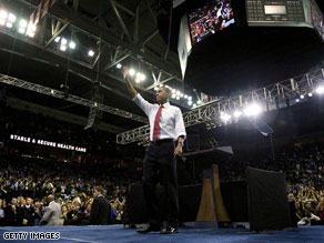 Obama hits the road with health care reform message.