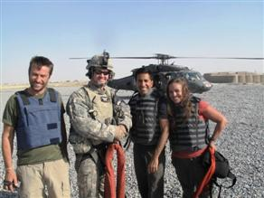 CNN team and rescue medic in Afghanistan.