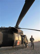 U.S. Army medic chopper in Afghanistan.