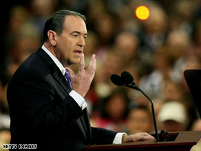 Mike Huckabee took nearly a third of the votes in the straw poll.