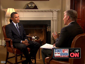 President Obamas full interview will air on State of the Union this Sunday, starting at 9 am ET.